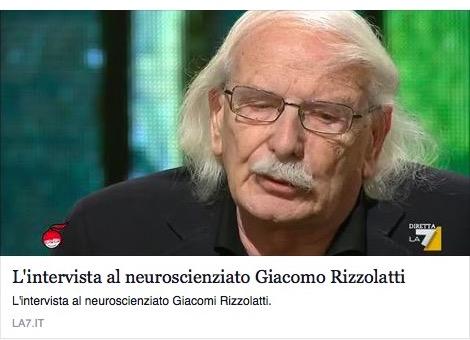 lo scienziato Rizzolatti sui neuroni specchio a Di Martedì
